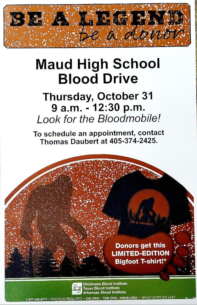 Blood Drive - Maud High School