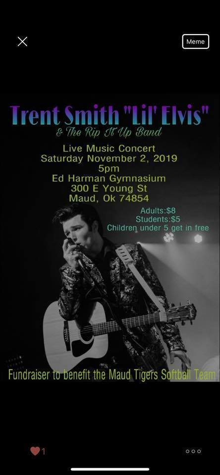 Lil'  Elvis Concert - Saturday, Nov. 2 at 5:00 PM. (pay at the door)
