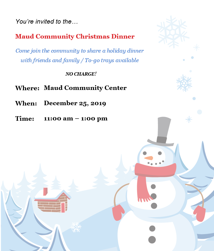 Community Christmas Dinner Flyer
