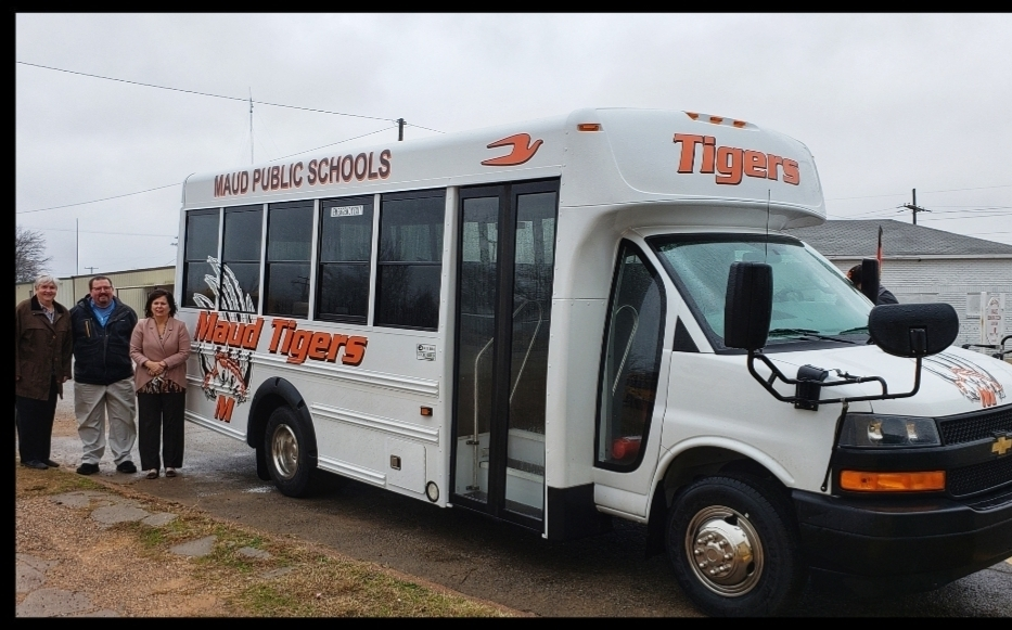 New 14 passenger bus, purchased by Pottawatomie County