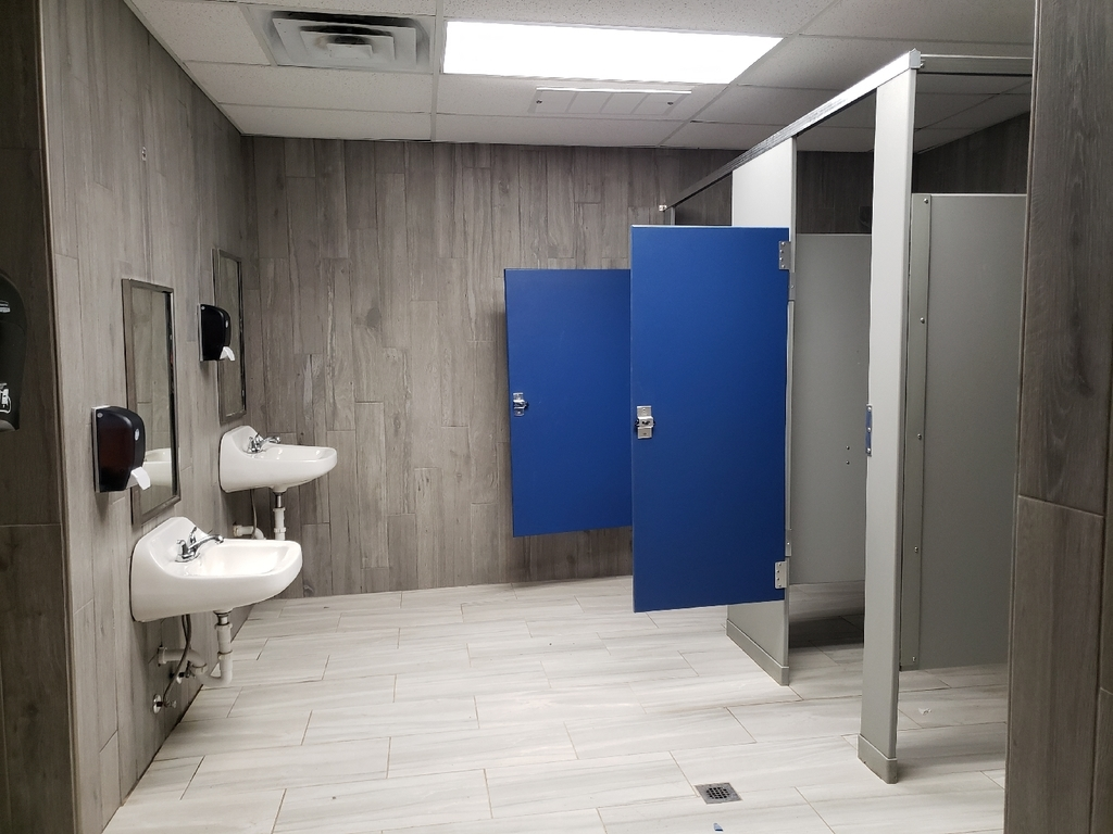 Elementary bathroom remodel (One of Mr. Harper's projects)