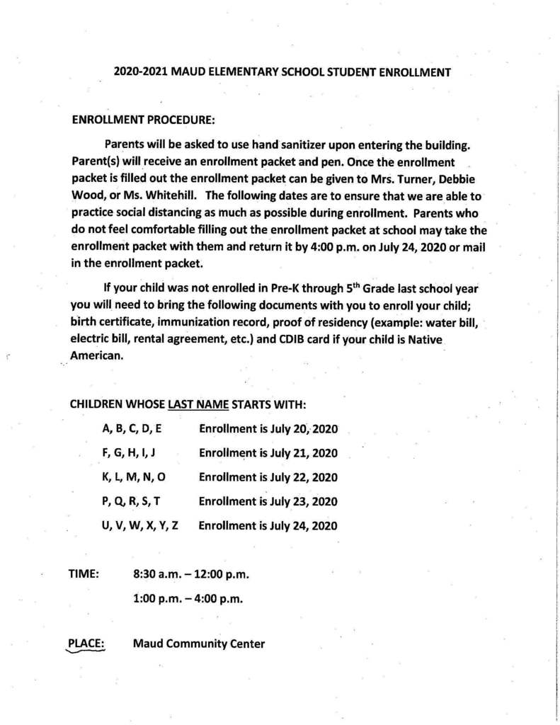 Enrollment Procedures for Elementary Students